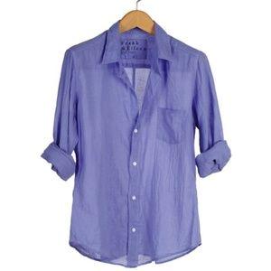 Frank & Eileen XS Barry Voile Cotton Shirt Top XS